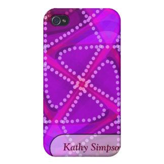 Fuschia moderner Batik iPhone 4 Fall Etui Fürs iPhone 4