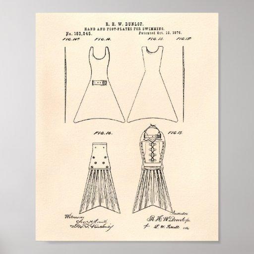 Fuß-Teller, der die 1876 Patent-Kunst altes Peper Poster