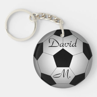 Fußbalball, personalisiert schlüsselanhänger