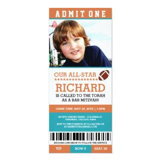 Fußball-Bar Mitzvah lädt ein 10,2 X 23,5 Cm Einladungskarte