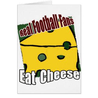 Fußball Cheesehead essen Käse-Grün und Gold Karte