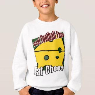 Fußball Cheesehead essen Käse-Grün und Gold Sweatshirt
