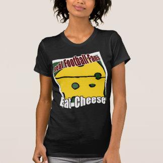 Fußball Cheesehead essen Käse-Grün und Gold T-Shirt