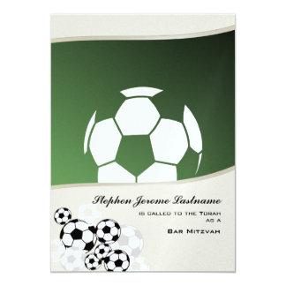 Fußball-EinladungsBar Mitzvah 12,7 X 17,8 Cm Einladungskarte