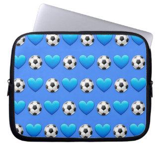 Fußball Emoji Laptop-Hülse 10 Zoll Laptop Sleeve