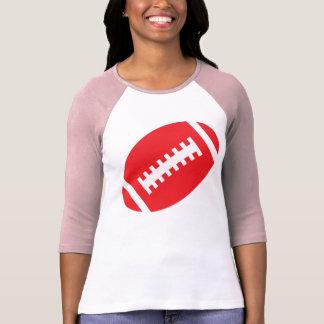FUSSBALL-ERWACHSENE Rosa u. roter Fußball des T-Shirt