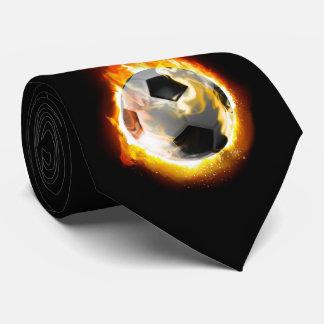 Fußball-Feuer-Ball-Krawatte Krawatte