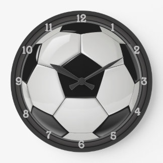 Fußball (Fußball) Große Wanduhr