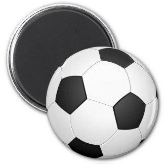 Fußball-Fußball-Illustrations-Magnet Runder Magnet 5,1 Cm