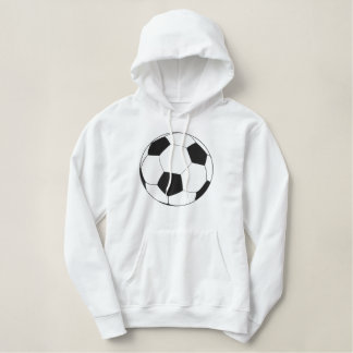 Fußball gesticktes Logo Bestickter Hoodie
