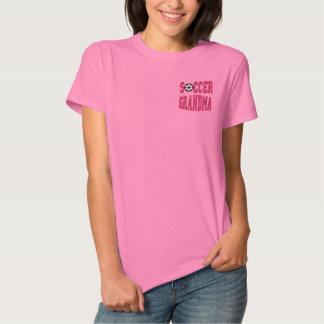 Fußball-Großmutter Besticktes T-Shirt