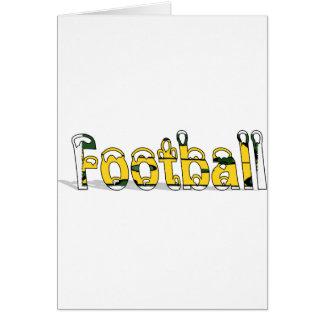 Fußball-Grün und Gold Karte