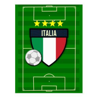Fußball Italiens Italien Postkarte