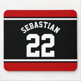 Fußball-Jersey-Neuheits-personalisierter Name Mousepad