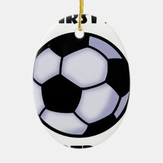 Fußball Keramik Ornament