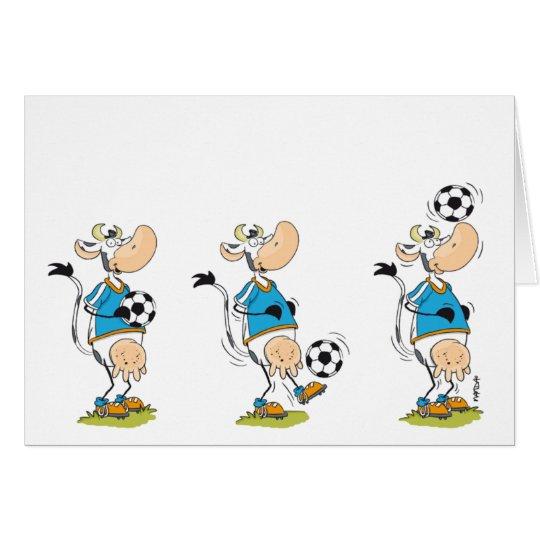 Fußball-Kuhkarte Karte