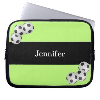 Fußball-Laptop-Computer Hülse, Kiwi u. Schwarzes Laptop Sleeve