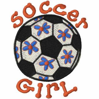 Fußball-MädchenHoodie Besticktes Hoodie
