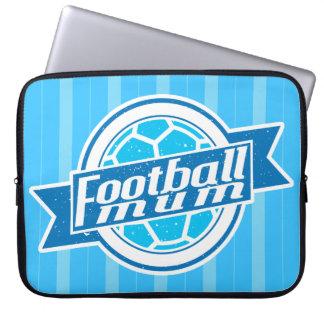 Fußball-Mama (blau) Laptop Sleeve