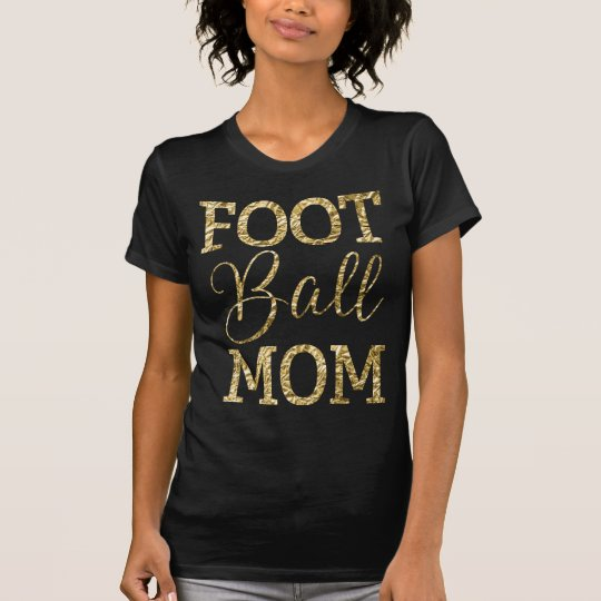 Fußball-Mamma-Shirts - Goldfolien-Effekt T-Shirt