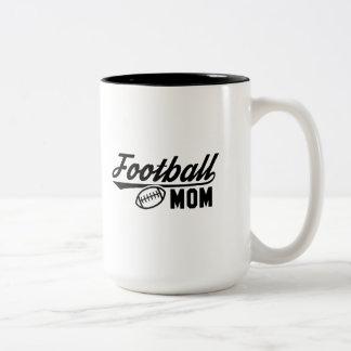 Fußball-Mamma Zweifarbige Tasse