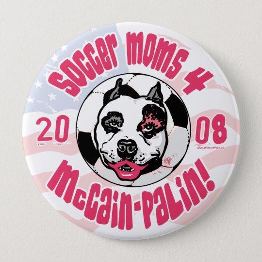 Fußball-Mammen 4 McCain Palin Runder Button 10,2 Cm