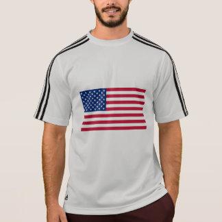 Fußball mit der Amerikanischen Flagge T-Shirt
