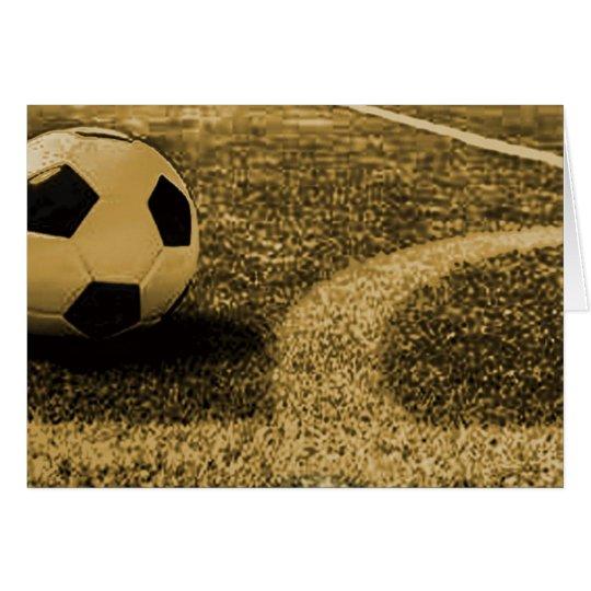 Fußball-Mitteilungskarten Mitteilungskarte