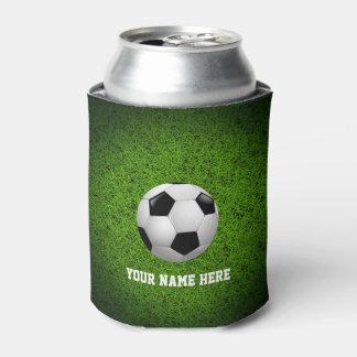 Fußball Personalizable Fußball-| auf grünem Gras Dosenkühler