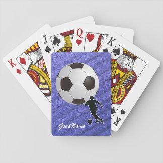 Fußball, personifiziert mit Namen Spielkarten