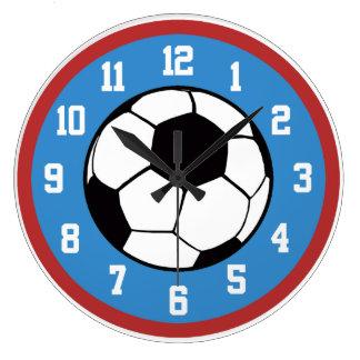 Fußball-Rot und Blau Uhr