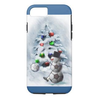Fußball-Schneemann-Weihnachten iPhone 7 Hülle