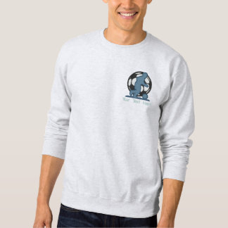 Fußball-Silhouette Besticktes Sweatshirt