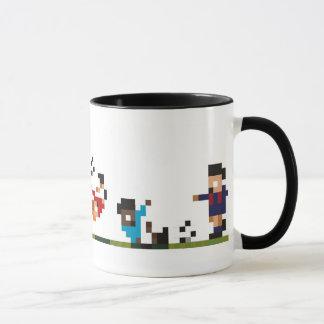 Fußball-Spieler-Tasse - Pixelated vernünftiger Tasse