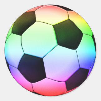 Fußball-Sport Colorfull Fußball-| Runder Aufkleber