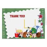 FUSSBALL Sport-Fan gefaltetes All Star danken Ihne Karten