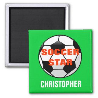 Fußball-Stern-personalisierter Magnet