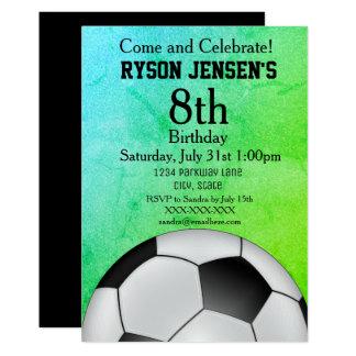 Fußball-Themed Sport-Kindergeburtstag-Einladungen Karte