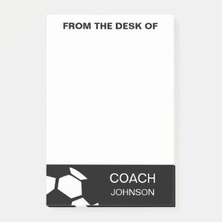 Fußball-Trainer-personalisiertes Trendy modernes Post-it Klebezettel