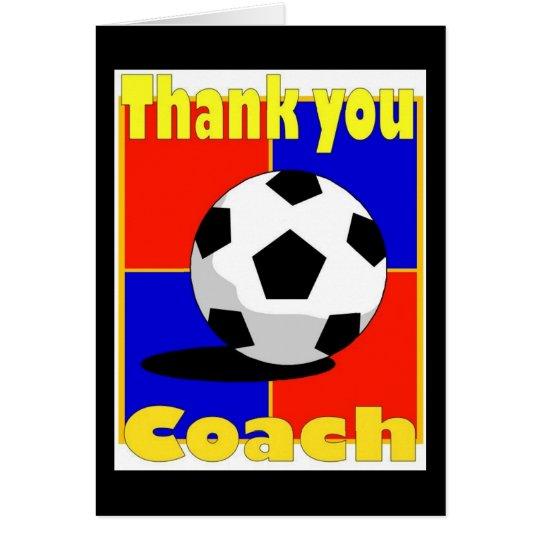 Fußball-Trainerkarte Grußkarte