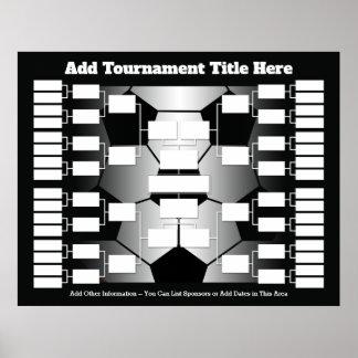 Fußball-Turnier-Klammer für 32 Teams Poster