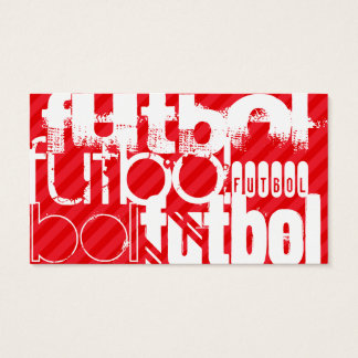 Futbol; Scharlachrot Rot-Streifen- Visitenkarte
