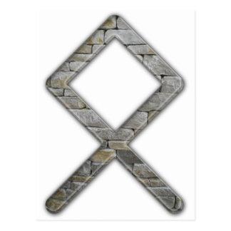 Futhark plus ancien Rune Odal Carte Postale