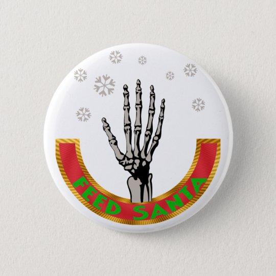 Füttern Sie Weihnachtsmann Runder Button 5,1 Cm