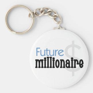 Futur millionnaire bleu porte-clef