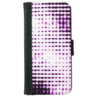 Futuristischer Art-Telefon-Kasten - lila iPhone 6/6s Geldbeutel Hülle