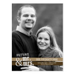 Futurs M. et Mme Wedding Save The Date - Brown Cartes Postales