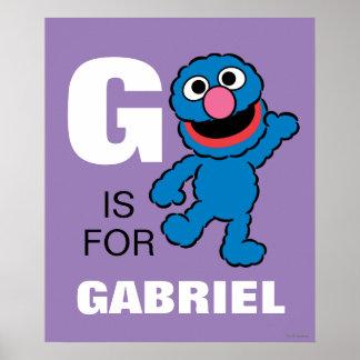 G ist für Grover, den   Ihren Namen addieren Poster