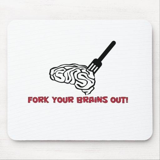 Gabeln Ihre Gehirne heraus! Mauspads