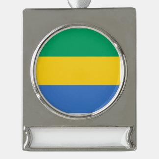 Gabun-Flagge Banner-Ornament Silber
